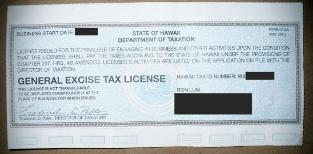 This is the tax license the state gives you. Make it visible to show your clients that you are a law-abiding and responsible business owner.