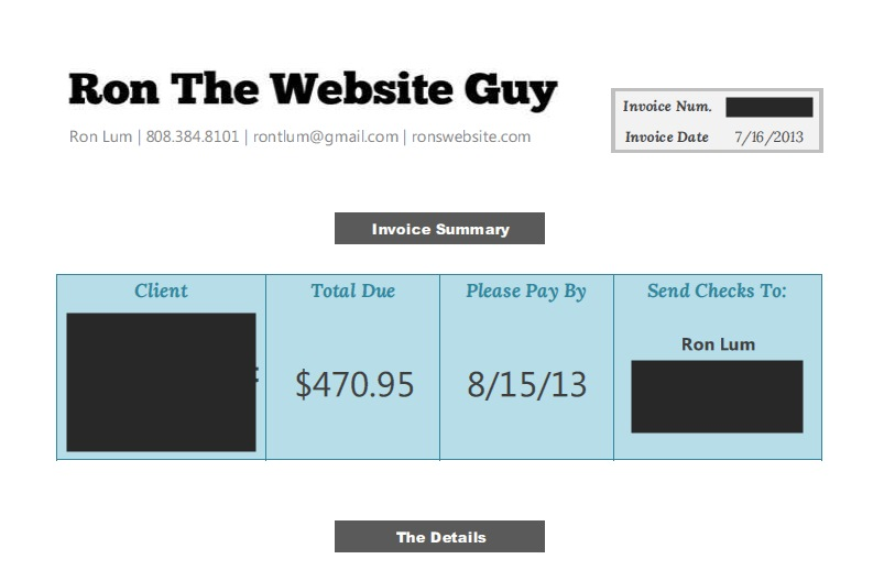 Invoice Template Excel 2007 Pdf What To Do When Clients Dont Pay  Hawaii Web Design Most Partnerships Take In Receipts Amounting To Word with Excel Rent Receipt Template Invoiceexample Send Ebay Invoice