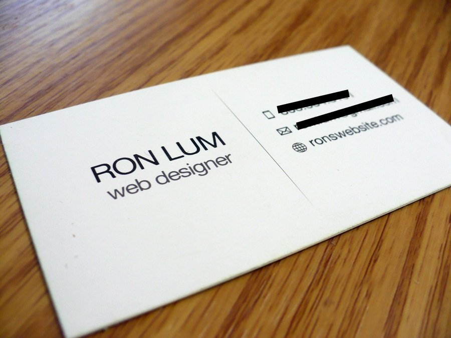 Where Can I Print Business Cards line Ron Lum