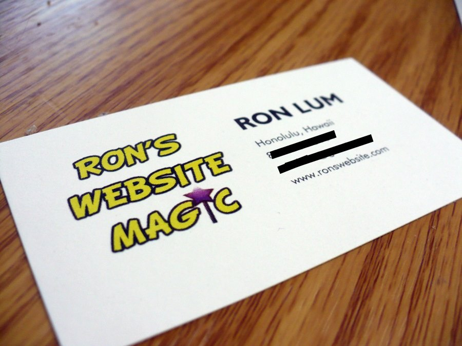 Where Can I Print Business Cards Online? : Hawaii Web Design Blog